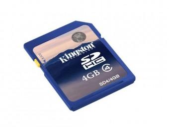 CARTAO DE MEMORIA SD 4GB KINGSTON CLASS 4
