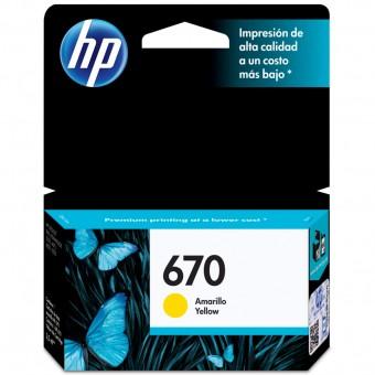 CARTUCHO HP 670 CZ116AB AMARELO (3,5ML)