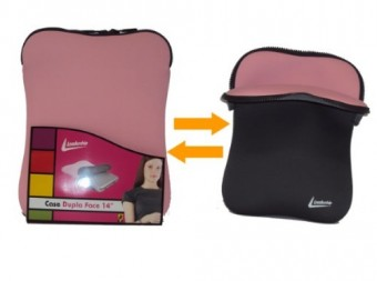 "CAPA P/ NOTEBOOK 10"" LEADERSHIP DUPLA FACE ROSA"