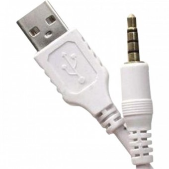 CABO DE AUDIO P2 P/ USB MACHO LOUD 15CM BRANCO