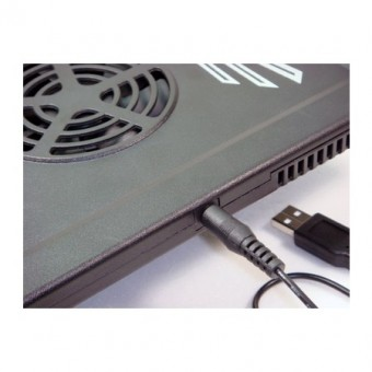 "BASE P/ NOTEBOOK 14"" EVERCOOL C/ 02 COOLER NP-701 PRETO"