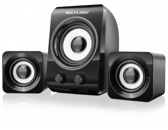 CX. SUBWOOFER MULTILASER 14W RMS SP172