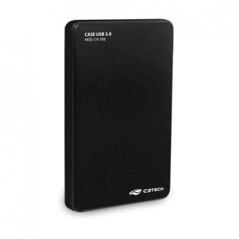 """CASE P/ HD 2.5"""" C3TECH CH-300BK USB 3.0 PRETO"""