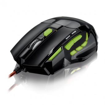 MOUSE USB GAMER MULTILASER MO208 PTO/VERDE