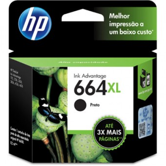 CARTUCHO HP 664XL F6V31AB PRETO (8ML)