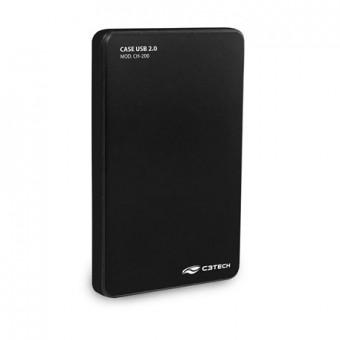 """CASE P/ HD 2.5"""" C3TECH CH-200BK USB 2.0 PRETO"""