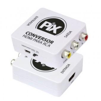 CONVERSOR HDMI FEMEA P/ RCA FEMEA PIX