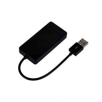 HUB USB 2.0 C3TECH HU-220BK 4 PORTAS PRETO