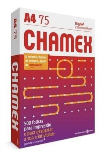 PAPEL CHAMEX A4 210X297MM PACOTE A UNIDADE 500 FOLHAS