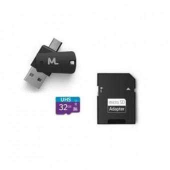 CARTAO DE MEMORIA 32GB 4X1 DUAL OTG + ADAP SD MULTILASER MC151