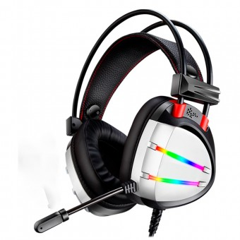 HEADSET KMEX AR70 USB LED RGB PTO/PTA