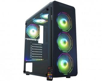 GABINETE ATX S/ FONTE GAMER KEMEX INFINITY POLYGON LED RGB CG-08G8