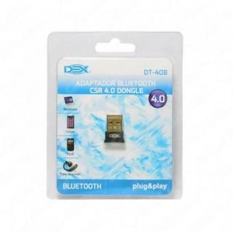 ADAPTADOR BLUETOOTH USB 4.0 DEX DT-40B